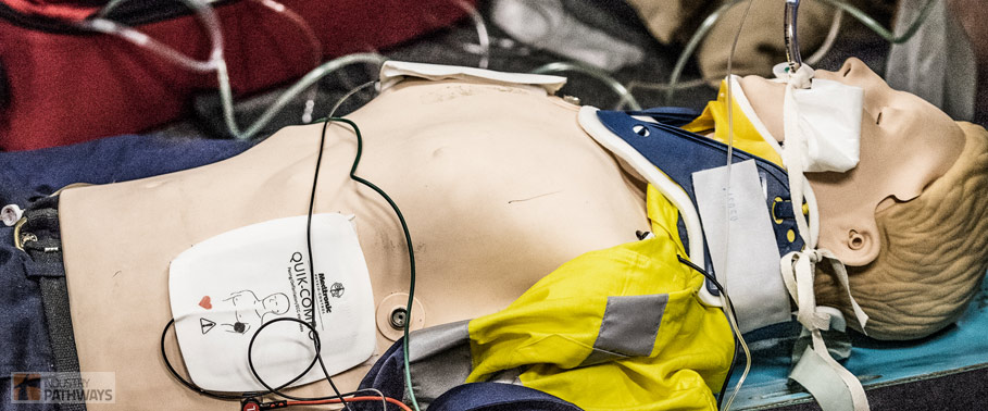 Patienr ECG monitoring paramedic training gold coast