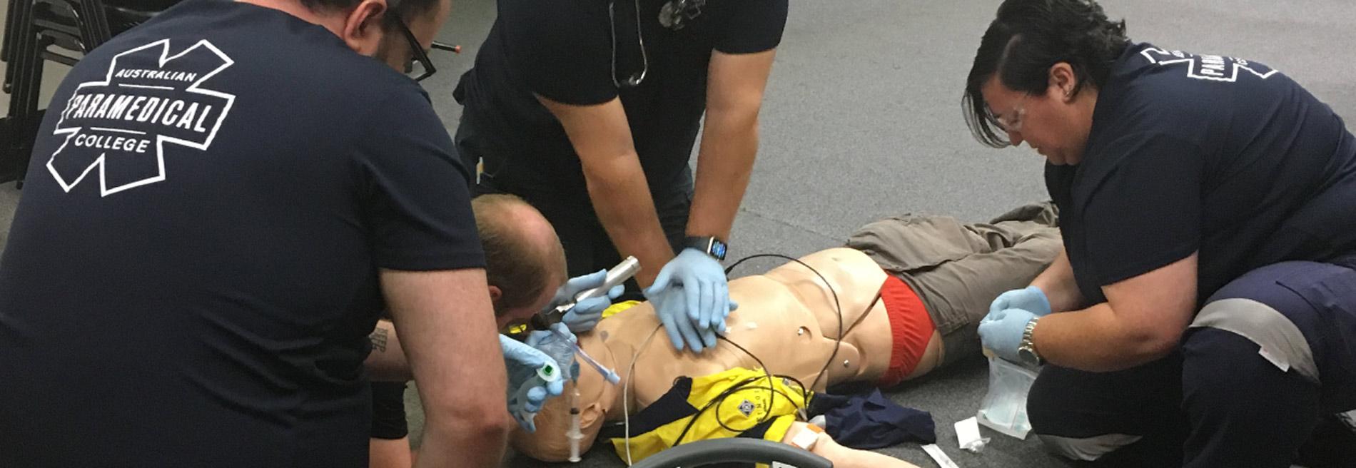 Cardiac arrest simulation students resus